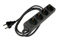 SOCKET WITH 4 SOCKETS AND WITH HEAT SHRINK FOR LABELING YOUR OWN LABEL