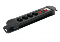 SOCKET WITH 4 SOCKETS WITH OVERVOLTAGE PROTECTION - PIN EARTH