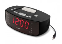 Digital PLL FM clock radio with AUX-in and wake-up / night lamp