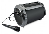 Portable Bluetooth® tube speaker with built-in battery and 'Sing-Along' option