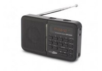 Portable USB / SD / AUX / FM radio with built-in battery