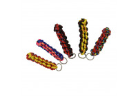 Key ring with ring, short (neon) and strong braided, assorted