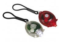 Lättmonterad cykelbelysning - LED - 1 x RÖD LJUS - 1 x VIT LJUS