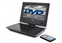 Bärbar DVD-spelare med 9 & rdquo; övervaka och inbyggt batteri