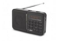 Bärbara USB / SD / AUX / FM-radio med inbyggt batteri