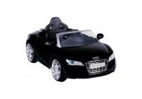 Batteri Bil Audi R8 svart med fjärrkontroll