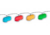 VW Bus T1 3D String Lights, 3 m, 20 x mångfärgade LED