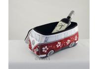 VW T1 3D UNIVERSAL neopren väskan - RÖD / blomma