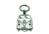 VW T1 buss nyckelring, buss fram med utbytbart mynt, inkl. Presenttunna - VINTAGE SILVER