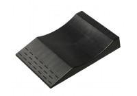 Ponts de stationnement en plastique 'anti-crevaison' - noirs - ensemble de 2 pièces