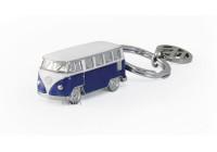 Porte-clés VW T1 Bus, modèle 3D, sous blister - BLEU