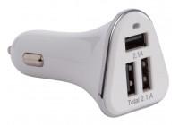 CHARGEUR VOITURE AVEC 3 PORTS USB (5 VDC - 4.2 A) - 21 W max.