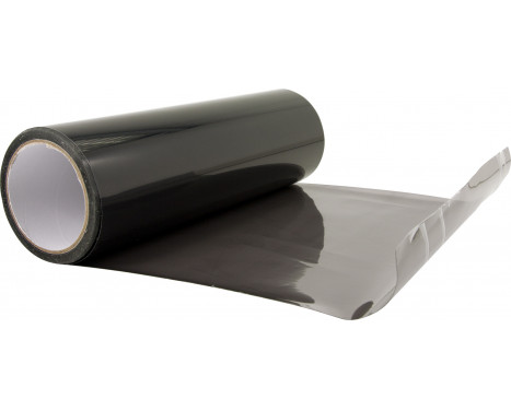 Koplamp-/achterlicht folie - Zwart - 1000x30 cm