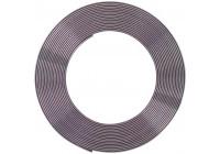 Chroomsierlijst Plat 21x3mm 5mtr 3M Tape
