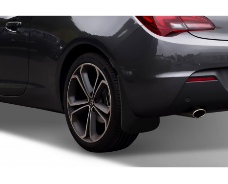 spatlappenset (mudflaps) achter OPEL Astra GTC coupe 2011-> 2 pcs., Afbeelding 2