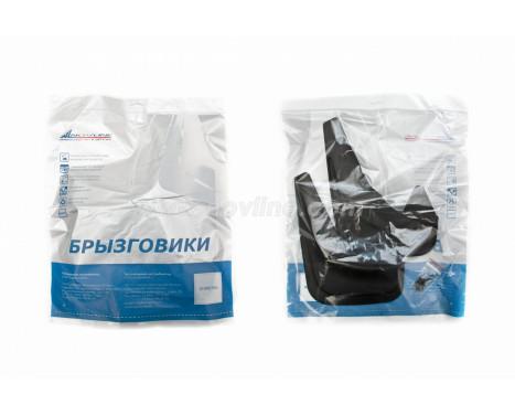 Spatlappenset (mudflaps) voorzijde FIAT 500, 2011 tot 2016 2pcs. Polyurethaan , Afbeelding 3