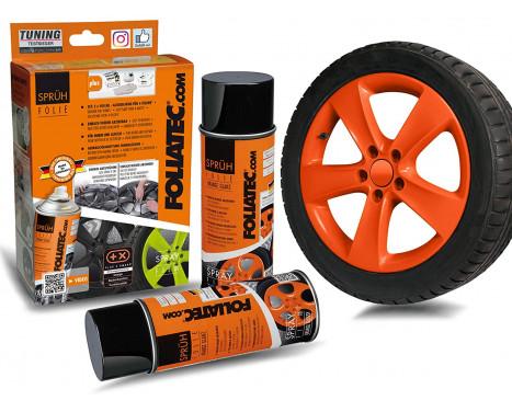 Foliatec Spray Film (Spuitfolie) Set - oranje glanzend - 2x400ml