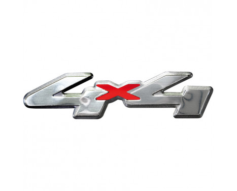 Aluminium Embleem/Logo - 4x4 - 12x3cm