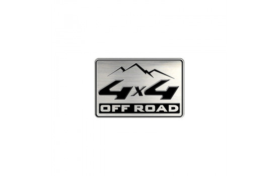 Aluminium Embleem/Logo - 4x4 OFF ROAD - 5,5x3,6cm
