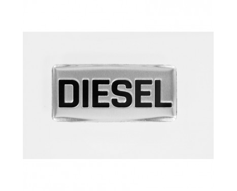 Aluminium Embleem/Logo - DIESEL - 5,5x2,5cm