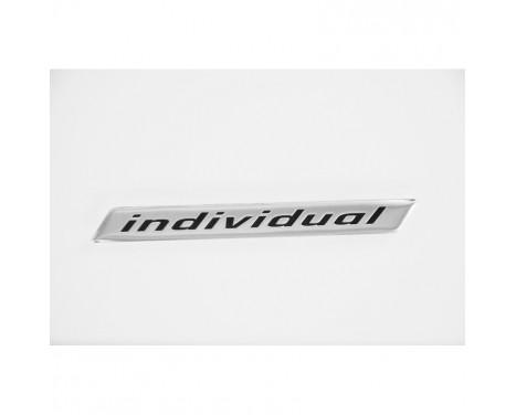 Aluminium Embleem/Logo - INDIVIDUAL - 11,8x1,4cm