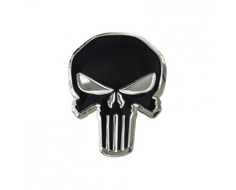 Aluminium Embleem/Logo - Skull - 7,5x5,5cm