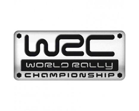 Aluminium Embleem/Logo - WRC - 5,5x2,5cm
