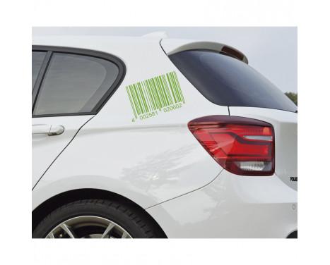 Foliatec Cardesign Sticker - Code - neon groen - 37x24cm, Afbeelding 2