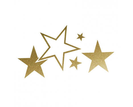 Foliatec Cardesign Sticker - Stars - goud - Breedte 63cm x Hoogte 39cm