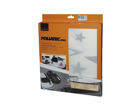 Foliatec Cardesign Sticker - Stars - zwart mat - 63x39cm, Afbeelding 4