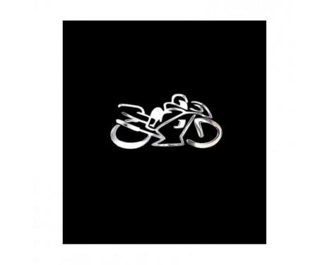 Nikkel Sticker 'Motorcyclist' - 75x40mm