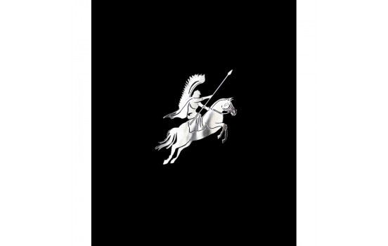 Nikkel Sticker 'Polish husar on horseback' - 60x60mm