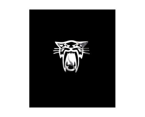 Nikkel Sticker 'Tiger' - 60x55mm
