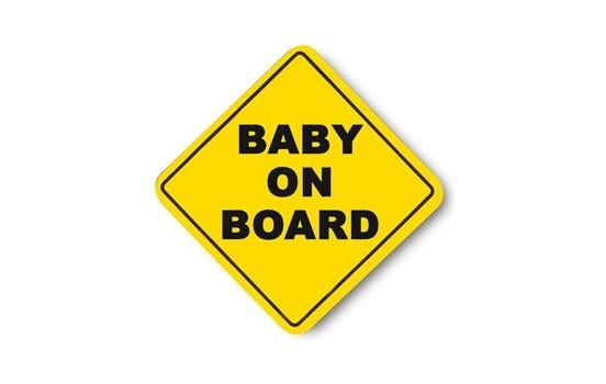 Plaatje 'Baby on board!'