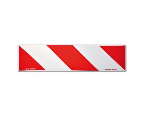 Reflecterende Strepen / Stickers - 14x50cm - Rood/Wit - Set à 2 stuks