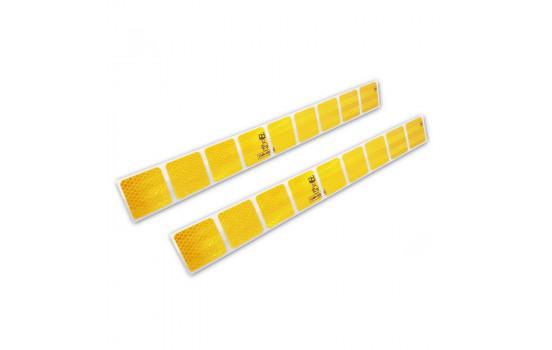 Reflecterende Strepen / Stickers - 50x5,5cm - Geel - Set à 2 stuks