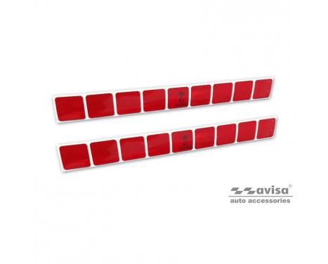 Reflecterende Strepen / Stickers - 50x5,5cm - Rood - Set à 2 stuks