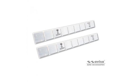 Reflecterende Strepen / Stickers - 50x5,5cm - Wit - Set à 2 stuks