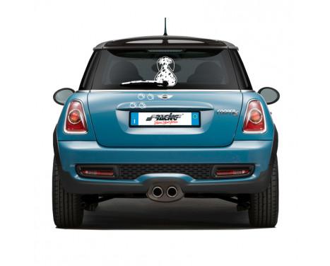 Simoni Racing Sticker 'Funny Wiper Dog Pongo - Wit - 23x31,5cm