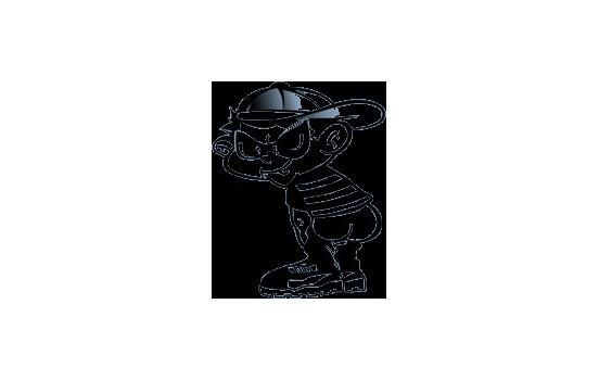 Sticker Bad Boy II - zwart - 14.5x11.5cm