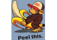Sticker Banana Monkey - 8x10,5cm