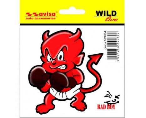 Sticker Devil Boxer - 9,5x 8,5cm