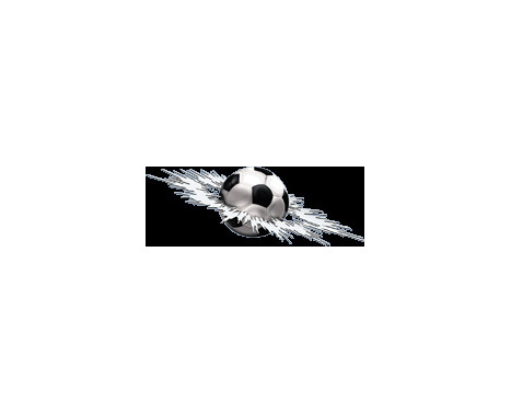 Sticker Graphic Crashed Football - 24x7x5cm
