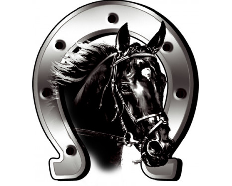 Sticker Horse + Horseshoe - 6x7cm, Afbeelding 2