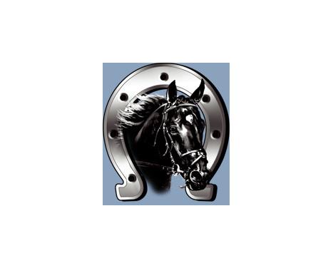 Sticker Horse + Horseshoe - 6x7cm, Afbeelding 3