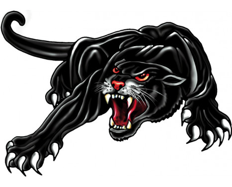 Sticker Panther -zwart - 33x23cm