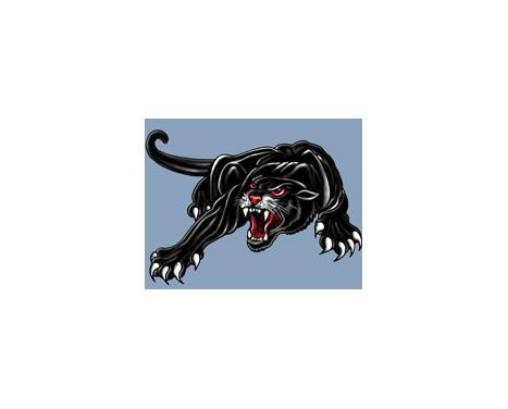 Sticker Panther -zwart - 33x23cm, Afbeelding 2