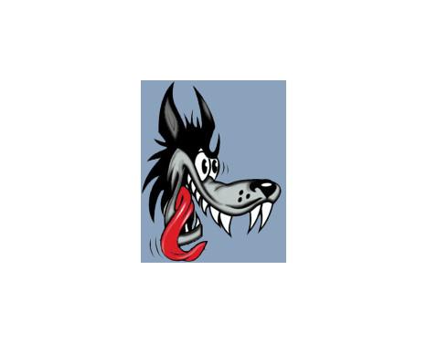 Sticker Wolf - 8x10cm, Afbeelding 2