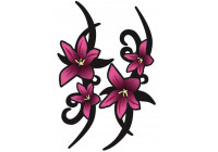 Stickerset Pink Tribal Flowers - 2x 23x9cm