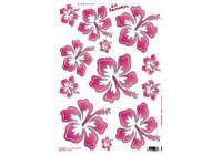 Stickervel Flowers pink (34x24cm)
